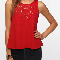 Urban Outfitters - Pins and Needles Embroidered Cutout Blouse