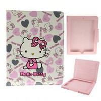 Love Hello Kitty Flip Leather Case Cover for iPad 2 - Bowknot