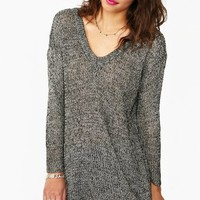 Maddy Oversized Knit - Salt & Pepper