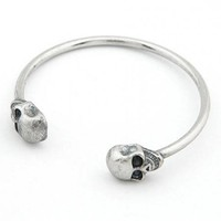 *Free Shipping* Retro Sided Skull Bangles 11030225 from MaxNina