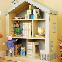 Small Cottage Dollhouse Bookcase