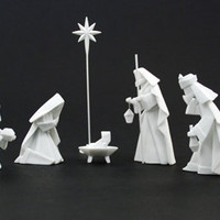 Origami Nativity Set