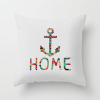 you make me home Throw Pillow by Bianca Green | Society6
