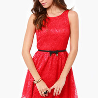 BB Dakota by Jack Azura Red Lace Dress