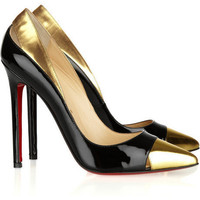 Christian Louboutin Duvette Two Tone Cutout Pump - $178