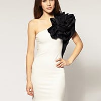 River Island | River Island One Shoulder Corsage Dress at ASOS
