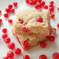 Red Hot Cinnamon Shortbread Cookies - Valentine's Day Candy Cookies - Butter Spice Sugar Cookie Bars