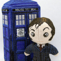 The Tenth Doctor Who 3D Cross Stitch Doll and Sewing Pattern PDF