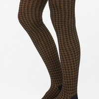 Houndstooth Over-The-Knee Sock