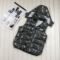 Moncler Clairy Dowe Sleeveless Vest (Grey)