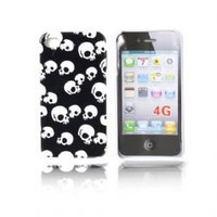 Skull Image Plastic Cover/ Skin Case for iPhone 4G