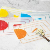 Rectangular Color-Coded Flexible Cutting Mat, Set of Four at Sur La Table