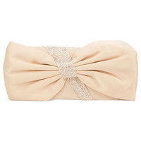 La Regale Handbag, Satin Evening Clutch with Crystal Bow - Clutches &amp; Evening Bags - Handbags &amp; Accessories - Macy&#x27;s