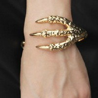 Unique Punk Style Eagle Claw Cuff Bracelet