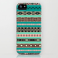 Aztec Tribal Pattern iPhone Case by Rex Lambo | Society6