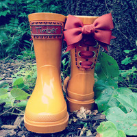 Timber &amp; Tamber Rain Boots Rubber Gumboots by TimberAndTamberBoots