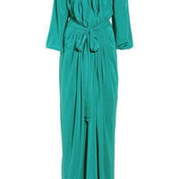 Vionnet Split-sleeve silk-crepe gown - 60% Off Now at THE OUTNET