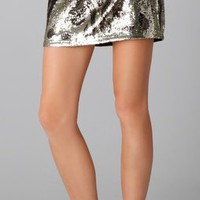 Haute Hippie Embellished Beaded Miniskirt