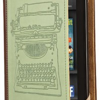 Verso Typewriter Case Cover by Molly Rausch (Fits Kindle Fire), Sage/Tan