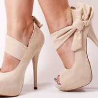 5.5&quot;Stiletto Heel Pump Prisella Stone Suede : Wild Diva | CHIQ