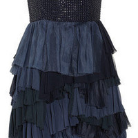 Alice + Olivia | Apri beaded tiered silk dress | NET-A-PORTER.COM