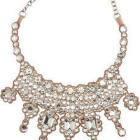 Valentino|Glam Swarovski crystal and organza bib necklace|NET-A-PORTER.COM