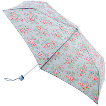 Cath Kidston Superslim Mini Folding Umbrella - Chelsea Flowers Blues