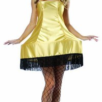 Rasta Imposta A Christmas Story Leg Lamp Sexy Dress Costume, Gold, One Size