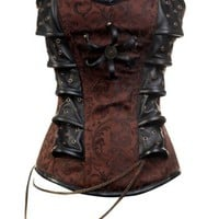 Amazon.com: CD-313 - Brown Steampunk Style Corset with Chain Detail: Clothing