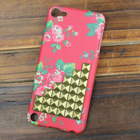 Bronze  Studs And beautiful Hard Case Cover for Apple Ipod Touch 5, iPod Touch 5th,iTouch 5,iPod Touch 5