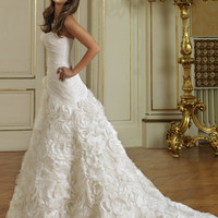 Taffeta, Ball Gown, Strapless Wedding Dresses