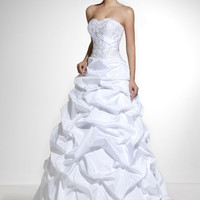 Taffeta, Drape Skirt, Strapless Wedding Dresses Model 1017 FREE SHIPPING