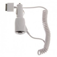 Car Charger with cable for iPhone 4S, iPhone 4, iPhone 3G/3GS, iPod, iPad (White) China Wholesale - Everbuying.com