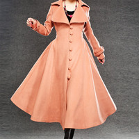 Women coat Cashmere  Winter Coat Long Jacket Tunic