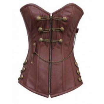 CD-467 - Brown Steampunk Style Corset *Promotion*