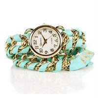 Mint Chain Wrap Watch