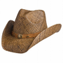 Ladies Country Western Raffia Shapeable Hat
