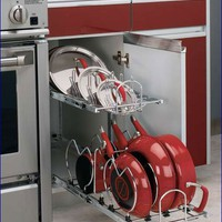 Rev-A-Shelf 5CW2-1222-CR Two-tier Cookware Organizer - Metal-Chrome