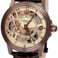 Stuhrling Original Men's 228.3365K77 Symphony Saturnalia Brumalia Mechanical Skeleton Brown Watch