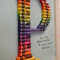 DIY Crayon Monogram