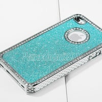 New Bling Diamond Chrome Hard Case Cover For iPhone 4 4S Screen Protector Stylus