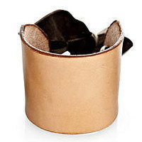 Womens Leather Cuff Bracelet, Leather and Ribbon Cuff - Made in USA