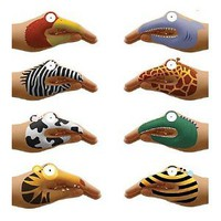 Non-Toxic Talking Animal Hand Tatoos, Set of 8: Toys & Games