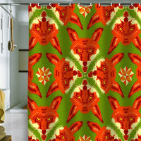 DENY Designs Home Accessories | Chobopop Geometric Fox Shower Curtain