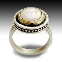 Sterling silver integrated 9K yellow gold ring by artisanlook