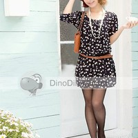 Printed Pattern Round Neck Women Dress - DinoDirect.com