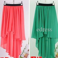 Elegant Chiffon Long Maxi Skirt