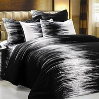 Black/White Bedding Set - Adult Bedding - le-vele-ar210-black-white