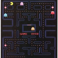 Pac Man Namco Classic Video Game 50x60 Fleece Throw Blanket