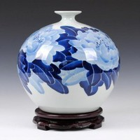 Hand Painted Underglaze Peony Vase [UF-PV079] - $72.00 : Buy Unique Craft Gifts From Best Online Shop, Ufingo